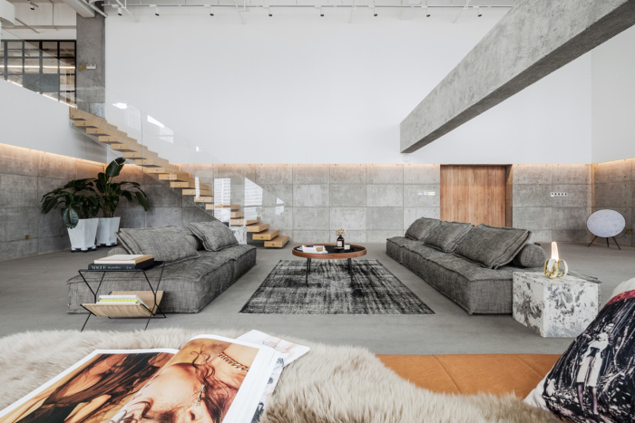 TKSTYLE bureaux beton espace detente