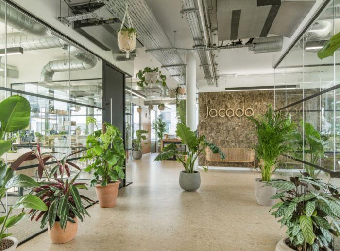 bureaux végétalisés jacada travel londres