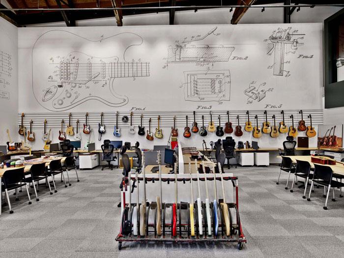 locaux fender décoration guitares