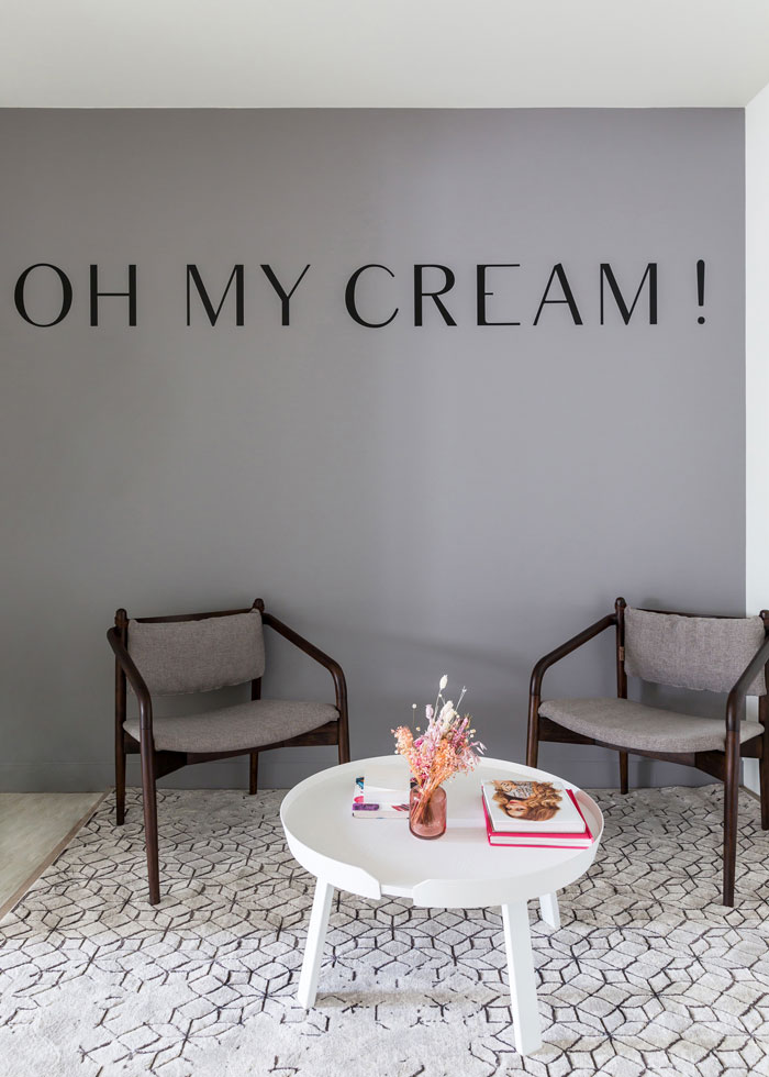 Oh My Cream office branding